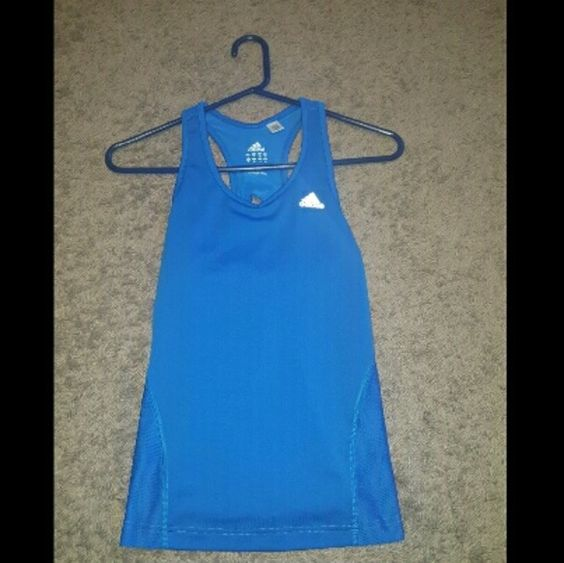 Blue Adidas built in bra tank top Blue Adidas built in bra tank top Adidas Tops Tank Tops
