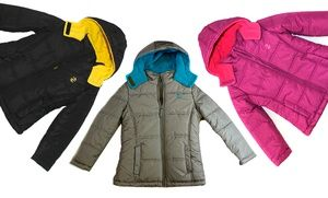 Groupon - IZOD Infant, Toddler, and Girls' Classic Two-Tone Puffer Jacket in [missing {{location}} value]. Groupon deal price: $21.99