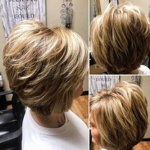 Graduated Bob Hairstyle Layeredbob Short Hairstyles For Thick Hair Layered Haircuts For Women Thick Hair Styles