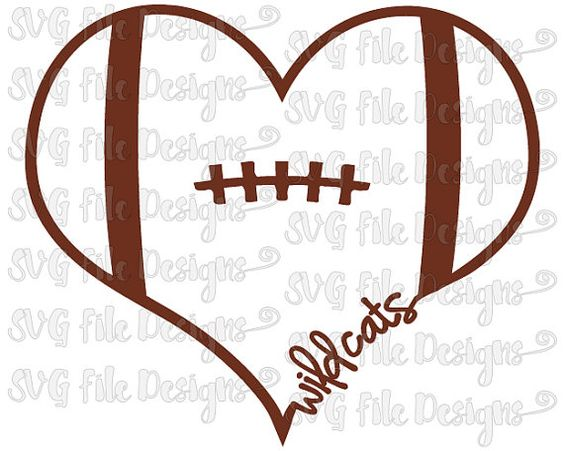 football heart clipart - photo #26