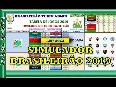 Turim Admin Planilhas Prontas Excel Baixar Planilha Simulador Campeonato Brasileiro 20 Tabela De Jogos Jogos Do Brasileirao Turim