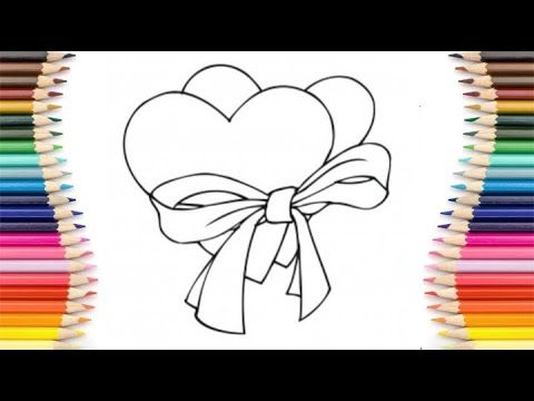 رسم سهل رسم قلب حب جميل جدا رسم قلبين حب تعليم الرسم للأطفال