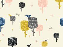 "Dashwood Studio ""September blue"" Vögel Bäume rose"