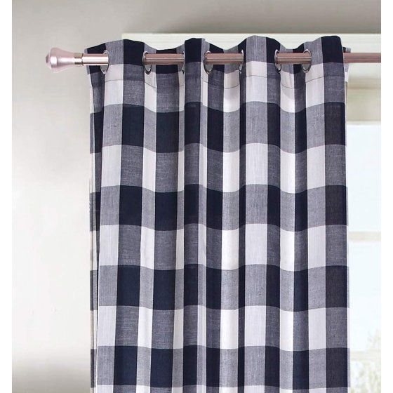 Decotex 2 Piece Plaid Courtyard Buffalo Checkered Grommet Top
