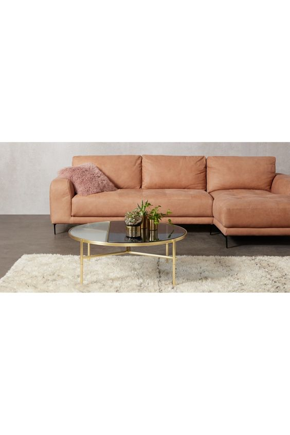 Made Couchtisch Messing Couch Home Decor Furniture