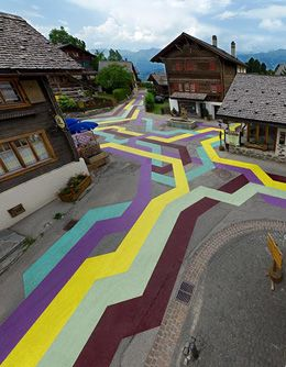 Lang/Baumann - Vercorin, Switzerland Road Painting