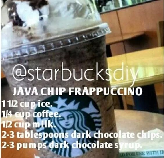 how to make a chocolate chip frappuccino