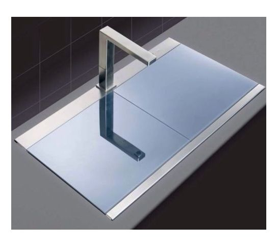 Clearwater Glacier Gla200 Double Bowl Kitchen Sink Glass Cover