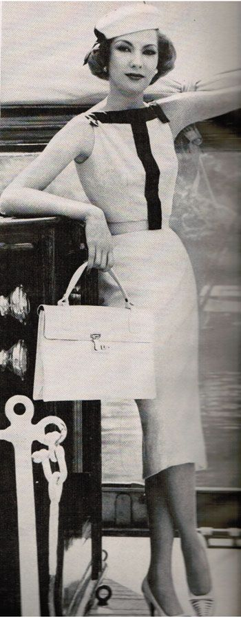 Oleg Cassini dress Vogue 1957