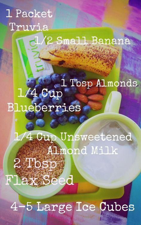 Undressed Skeleton — Blueberry Banana Almond Flax Seed Smoothie! 100% Vegan!