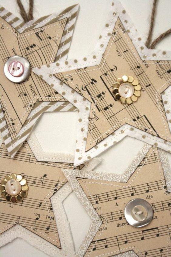 basteln mit papier sterne weihnachtsbastelideen