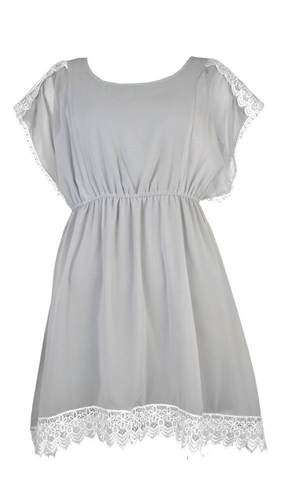 $20.99 Amazon.com: Banana Flame Chiffon Crochet Detail Tunic: Clothing for bridesmaids?