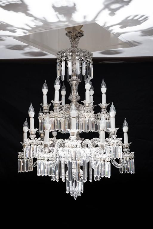 Important Crystal Chandelier Of Baccarat France 1850s Crystal