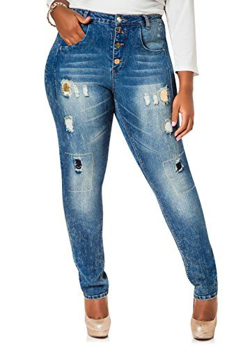 Fashion Bug Womens Plus Size Gold Trimmed Button Fly Skinny Jeans ...