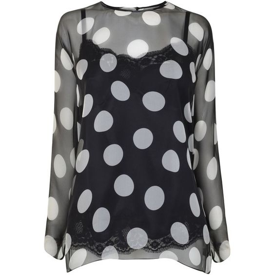 DOLCE AND GABBANA Polka Dot Chiffon Top