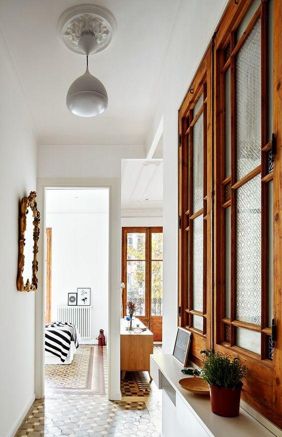 Estilo moder-nórdico en una vivienda modernista del Eixample.: