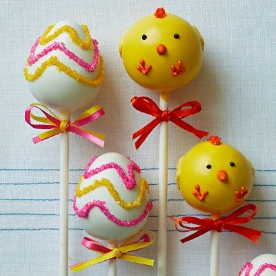 Carole-can we do these for boys for Easter? Sweet Lauren Cakes Easter Cake Pops #WilliamsSonoma