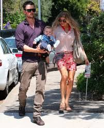 Fergies son - Such a good looking family!