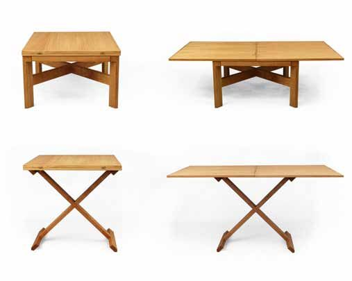 Handmade, bespoke furniture by Lee Sinclair Furniture http://leesinclair.co.uk convertable eco coffee table to six seater dining table in seconds.