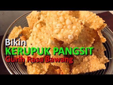Bikin Kerupuk Pangsit Gurih Rasa Bawang Untuk Mie Ayam Youtube Food How To Make Dumplings Recipes