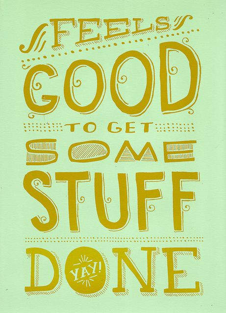 get some stuff done