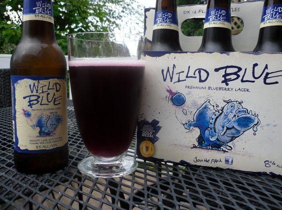 Wild Blue Lager...taste like blue berries