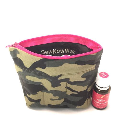 Essential Oils Travel Case Mini Camouflage with 7 by SewNowWat