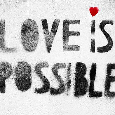 LEINWAND  Love is possible (ab)20x20cm KUNSTDRUCK von STREET ♥ HEART - Finest streetart from berlin auf DaWanda.com www.streetheart-berlin.de