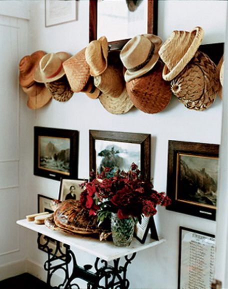 A nice collection of straw hats is perfect for Texas summers. #Bringontheheat