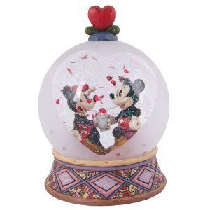 Disney Traditions designed by Jim Shore for Enesco Mickey and Minnie Soda Shop Waterball 6 IN. So cute <3