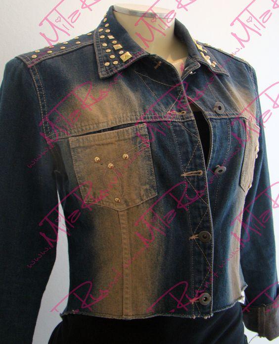 Jaqueta customizada com tachinhas por Milaine.