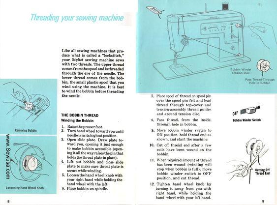 singer sewing machine threading