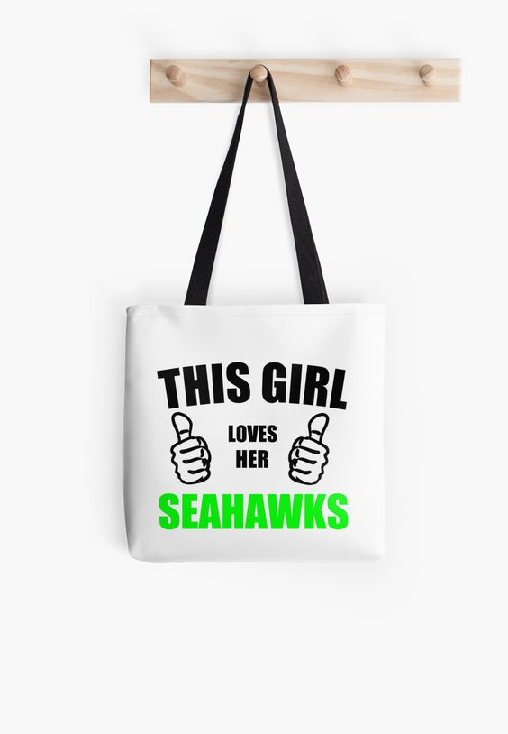 THIS GIRL LOVES HER SEAHAWKS by Divertions