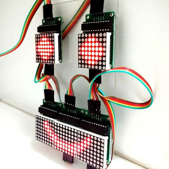 Controlling led matrix array with arduino uno