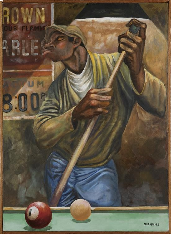 ernie barnes chalking the cue stick art african american pinterest july 15 the o 39 jays. Black Bedroom Furniture Sets. Home Design Ideas