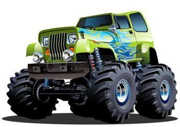 camion bande dessinée: Monster Truck Cartoon