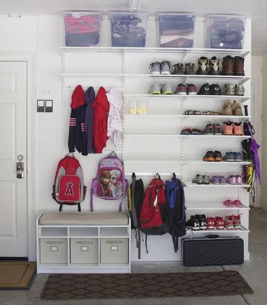 May Organizing Challenge: Link Party Recap! Jumbo Sized Mudroom In Garage |  Garage | Pinterest | Mudroom, Organizations And Garage Organization