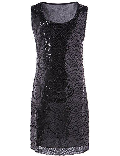 KAYAMIYA Women's Art Deco Glitter Sequin Beaded Flapper Gatsby Dress Black KAYAMIYA http://www.amazon.com/dp/B00PY09XN6/ref=cm_sw_r_pi_dp_iyTIwb0F6GCTS