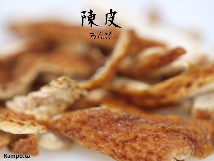 Chen pi - mikan orange peel: http://kampo.ca/herbs-formulas/herbs/chinpi/