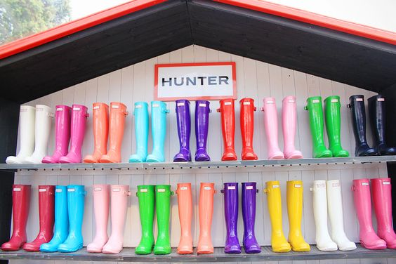 Hunter boots galore!