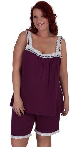 Cute AS CAN BE Plum Purple Plus Size Pyjamas | eBay