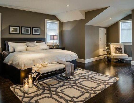 Braun Bettdecken Gemälde Wandfarben Schlafzimmer Bett | Dream Home ... Einfaches Schlafzimmer Schrge Braun Beige