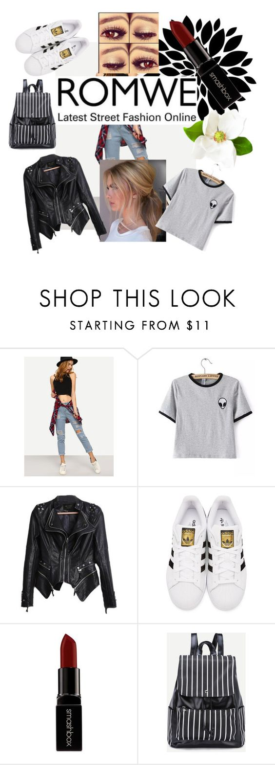 """""""Untitled #181"""" by sparkliegirl03 ❤ liked on Polyvore featuring WithChic, adidas Originals and Smashbox"""