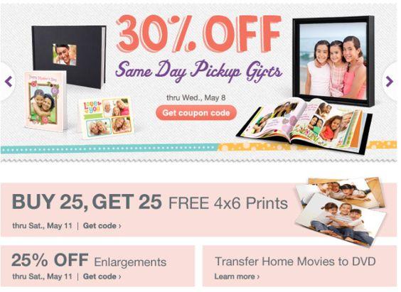 Walgreens Photo Deals   Coupon Codes thru 6-1-2013