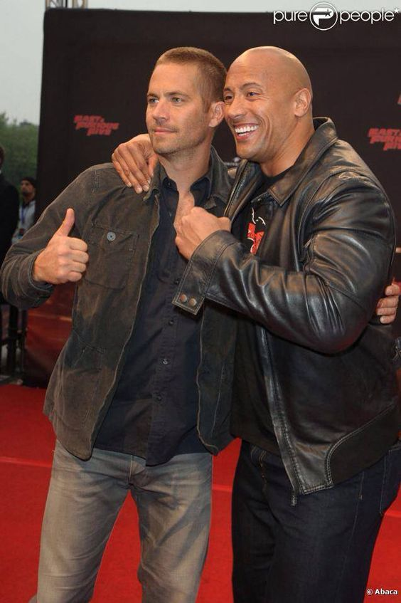 Paul Walker and The Rock - making an exception for these two , lol
