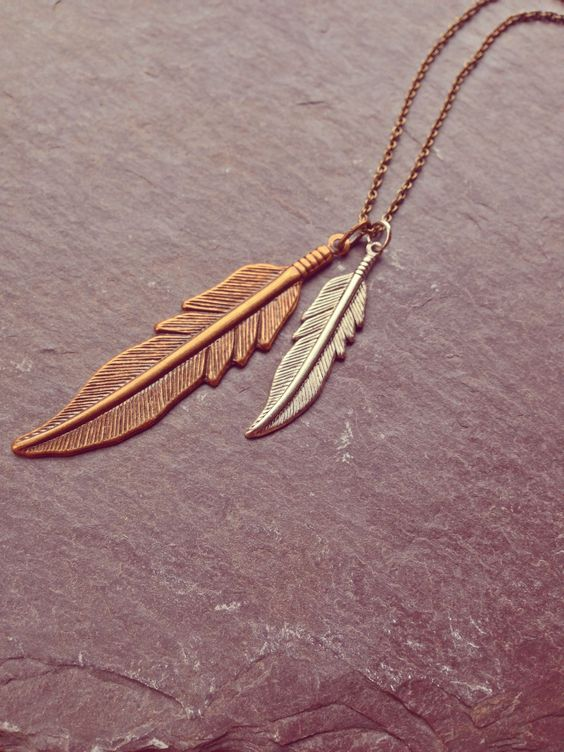 Float like a feather Necklace #feather #boho #necklace #bohemian