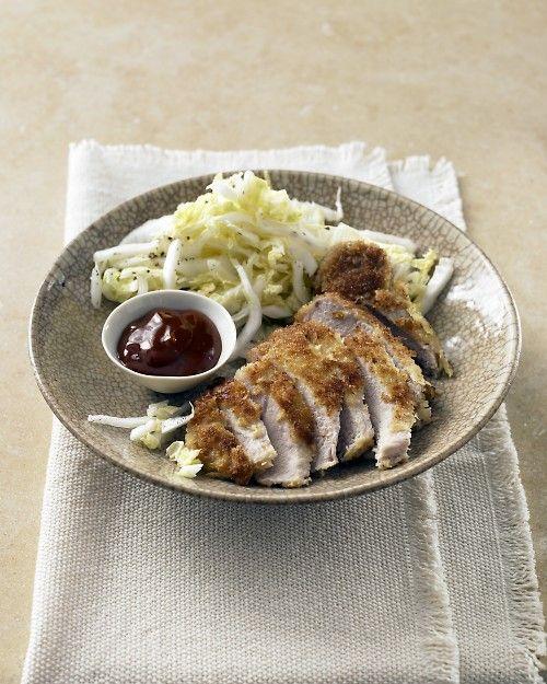 Panko-Crusted Pork Chops with Napa Salad - Martha Stewart Recipes