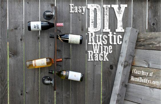 Rustic Wine Rack Tutorial DIY