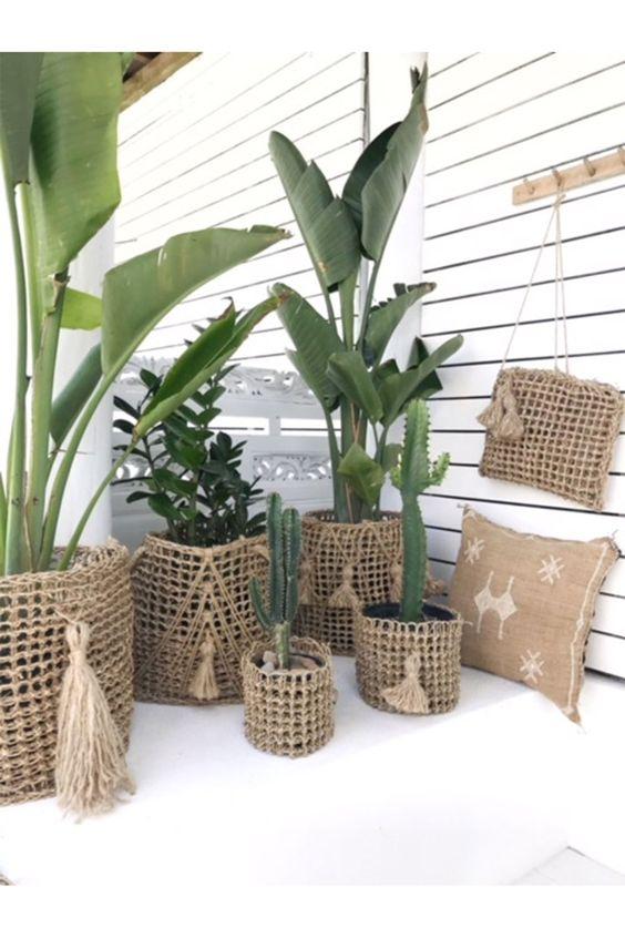 DIY seagrass planters
