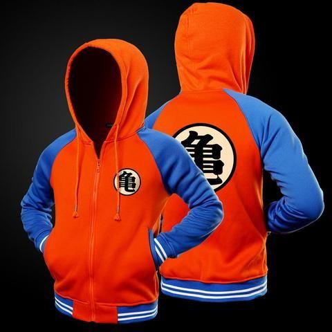 Cartoon Dragon Ball Z Goku Hoodie Sweatshirt Men Casual Slim Fit Zipper Hoodies Sweatshirts Men Hooded Baseba Hoodies Sweatshirts Hoodie Hooded Baseball Jacket